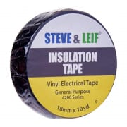 Insulation Tape - Black Vinyl Electrical Tape 18mm x 360inches
