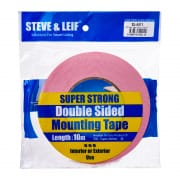 STEVE & LEIF Double Sided Mounting Tape 18mm x 10m White