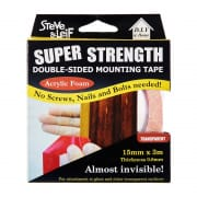 Super Strength Acrylic Foam Double Sided Mounting Tape 15mm x 3m