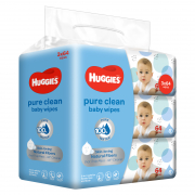 Pure Clean Baby Wipes 3x64s