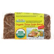 Organic Three Grain Sliced Bread 500g