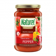 NATUREL Organic Pasta Sauce Tomato With Peppers 340g