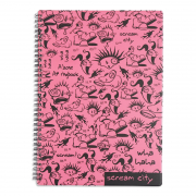 Notebook Ring A4 - Scream City