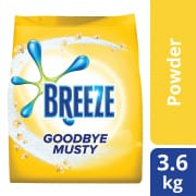 BREEZE Laundry Powder Detergent Goodbye Musty (Indoor Drying) 3.6.kg