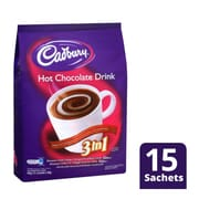 CADBURY 3 In 1 Chocolate Drink 15sX30g