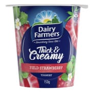 DAIRY FARMERS Yoghurt Thick & Creamy Strawberry 150g