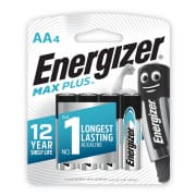 Max Plus AA Alkaline Batteries 4s
