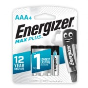 Max Plus AAA Alkaline Batteries 4s