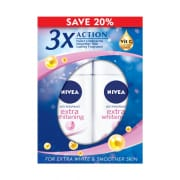 Extra Whitening Roll On 50ml Twin Pack