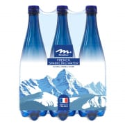 French Sparkling Natural Mineral Water 6sX1L