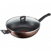Super Cook Plus Non-Stick Wok Pan 32cm with Glass Lid