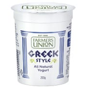 Farmers Union Greek Style Natural Yoghurt 2x140G