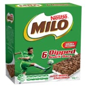 Milo Energy Snack Dipped Bar 6sX160g