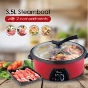 POWERPAC 3.5L Yuan Yang Steamboat with 2 Compartment 1300W PPMC708
