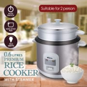 0.6L Rice Cooker with Steamer PPRC62