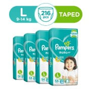 Baby Dry Tapes L Carton 4X54s