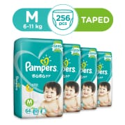 Baby Dry Tapes M Carton 4X64s