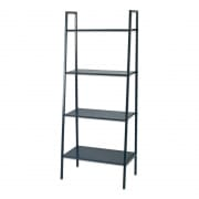 4 Tier Metal Display Rack Black L91 x D35 x H148cm