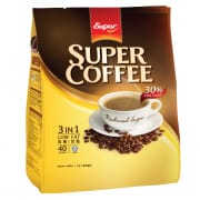 SUPER Instant Coffee 3-In-1 Low Fat (30% Less Sugar) 40sX16g
