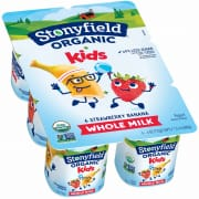 Organic Yoghurt Kids Strawberry Banana 6sX113g
