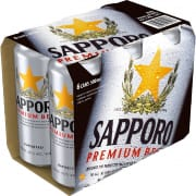 Sapporo Premium Draft Beer 500Ml 6 Pack