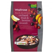 WAITROSE Muesli Orchard Fruits and Berries