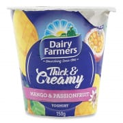 DAIRY FARMERS Yoghurt Thick & Creamy Mango & Passionfruit 150g
