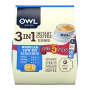 OWL 3in1 Instant Coffee Regular Low Fat 30sX20g