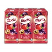 RIBENA Blackcurrant & Strawberry Fruit Drink 6sX200ml