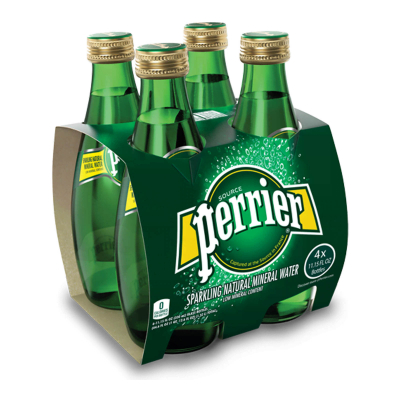 PERRIER Sparkling Natural Mineral Water 4sX330ml