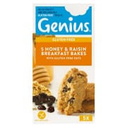 Gluten Free Oat Raisin & Honey Bakes 5sX140g